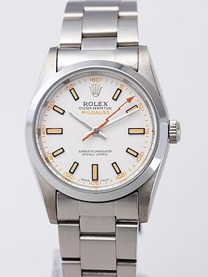 Rolex Milgauss Replica Watches White Dial SS Band RX8375