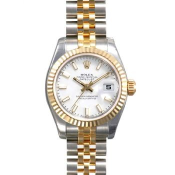 Swiss Rolex Datejust 179173 White Dial Ladies Automatic Replica Watch