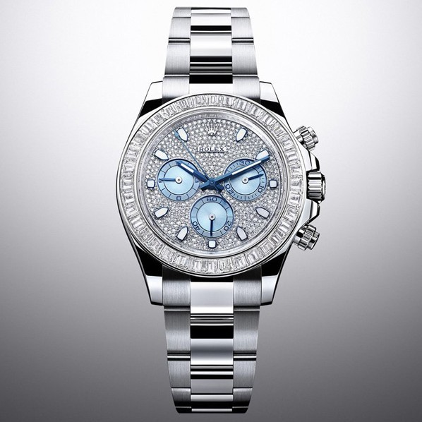 Swiss Rolex Cosmograph Daytona 116576TBR Platina Full Diamonds dial Men Automatic Replica Watch