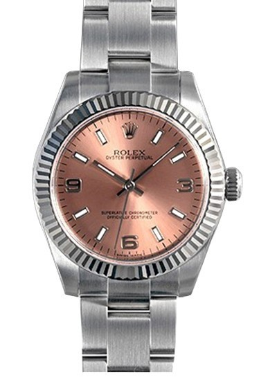 Swiss Rolex Oyster Perpetual 177234-70160 Pink Dial Ladies Automatic Replica Watch