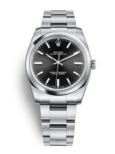Replica Rolex Oyster Perpetual Swiss Watches 114200-0023 Black Dial 34mm(High End)