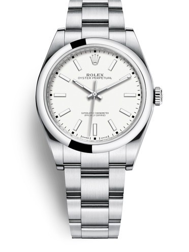 Replica Rolex Oyster Perpetual Swiss Watches 114300-0004 White Dial 39mm(High End)