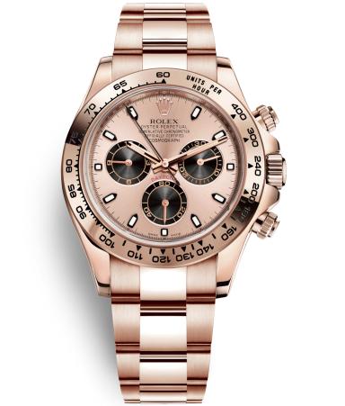 Replica Rolex Daytona Automatic Watch 116505-0001 Rose Gold Dial 40mm