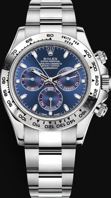 Replica Rolex Daytona Swiss Automatic 116509-0071 Dark Blue Dial 40mm (High End)