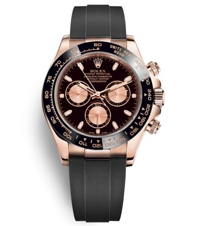 Rolex Daytona Swiss Automatic Watch Rose Gold Dial 116515LN-0012 (High End)