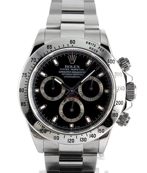 Replica Rolex Daytona Automatic Watch 116520-0015 Black Dial 40mm