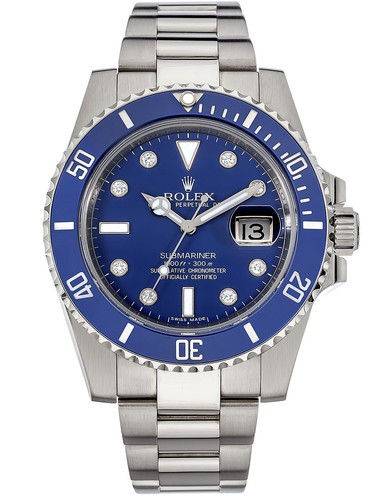 Replica Rolex Submariner Watches Swiss Automatic 116619LB Blue Dial 40mm (High End)