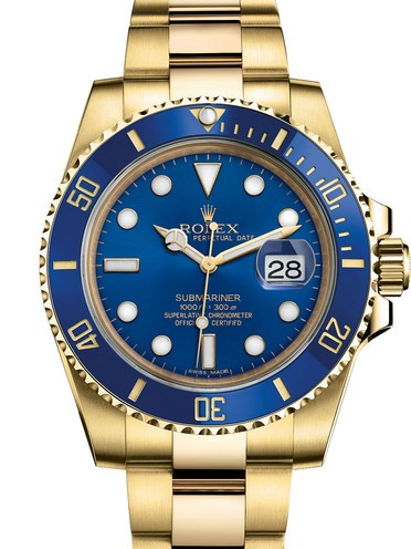 Rolex Submariner Swiss Replica Watch 116618LB-0003 Blue Dial 40mm (High End)
