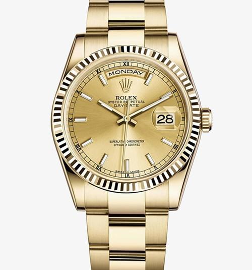 Replica Rolex Day-Date Automatic Full Gold Watch 118238-0110 36mm