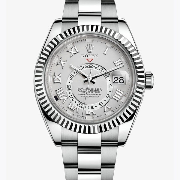 Rolex Sky-Dweller Replica Watches Silver Dial