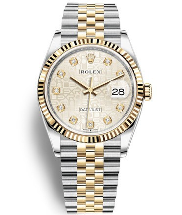 Replica Rolex Datejust Swiss Watches 126233-0027 Silver Pattern Dial 36mm(High End)
