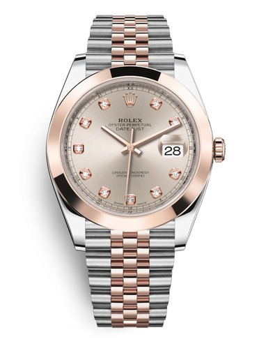 Replica Rolex Datejust II Swiss Watches 126301-0008 Rose Gold Dial 41mm(High End)
