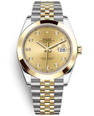 Replica Rolex Datejust II Swiss Watches 126303-0012 Gold Dial 41mm(High End)