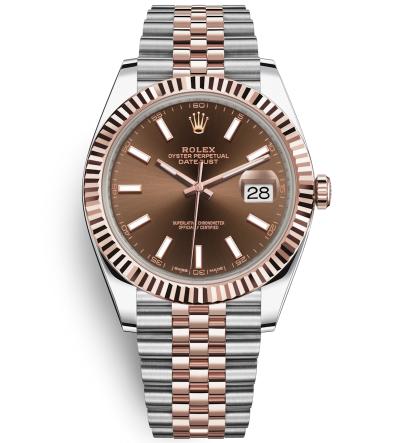 Rolex Datejust II Swiss Replica Watch 126331-0002 Chocolate Dial 41mm (High End)