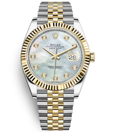 Rolex Datejust II Swiss Replica Watch 126333-0018 MOP Dial 41mm (High End)