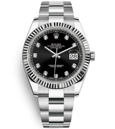Replica Rolex Datejust II Automatic Watch 126334-0011 Black Dial 41mm
