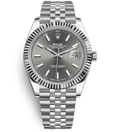 Rolex Datejust II Swiss Replica Watch 126334-0014 Gray Dial 41mm (High End)