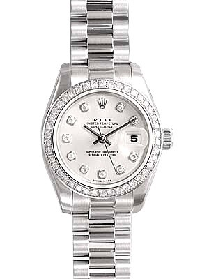 Swiss Rolex Oyster Perpetual 179136G-83136 Silver dial Ladies Automatic Replica Watch