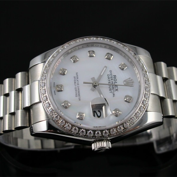 Rolex Datejust Mid-sized Automatic Replica Watch White MOP Dial 36mm