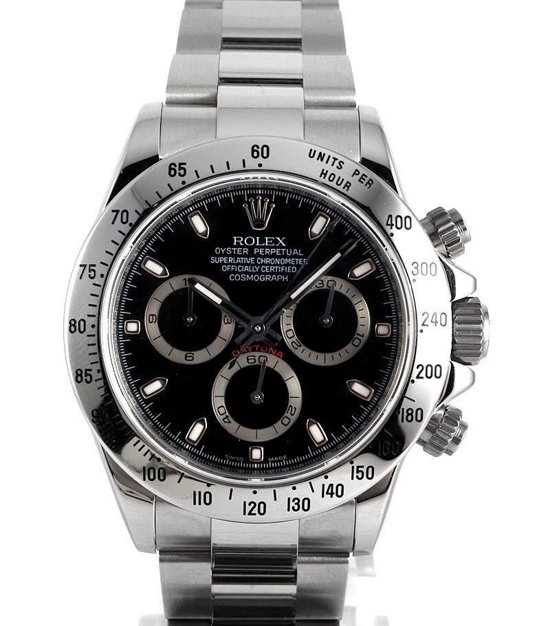 Swiss Rolex Cosmograph Daytona 116520 Black Dial Men Automatic Replica Watch