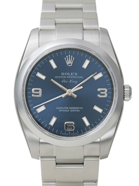 Swiss Rolex Air-King 114200-70190 Blue Dial Men Automatic Replica Watch