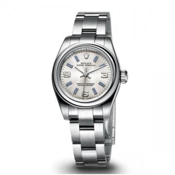 Swiss Rolex Oyster Perpetual 176200 Silver-gray dial Ladies Automatic Replica Watch