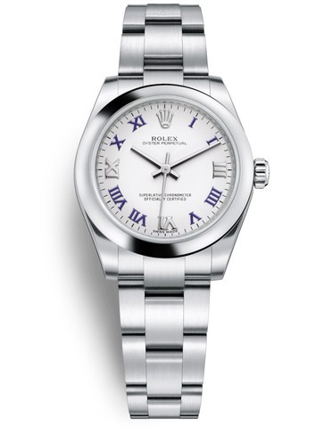 Replica Rolex Oyster Perpetual Swiss Watches 177200-0016 White Dial 31mm(High End)