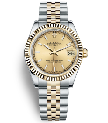 Rolex Datejust 31MM Ladies 178273-0001 Gold dial Automatic Replica Watch
