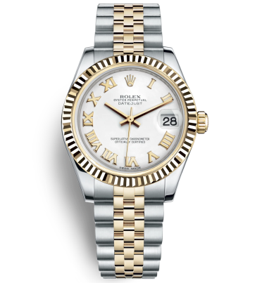 Replica Rolex Datejust Automatic Two-Tone Watch 178273-0073 White Dial 31mm