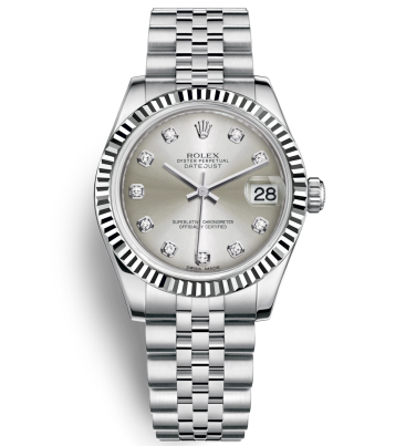 Replica Rolex Datejust Automatic Watch Silver Dial 31mm