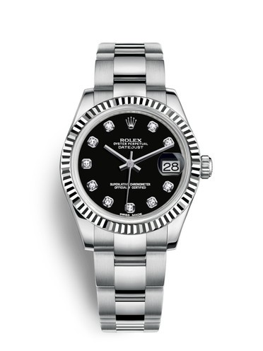 Rolex Datejust 31MM Ladies Automatic Replica Watches 178274-0058 Black Dial