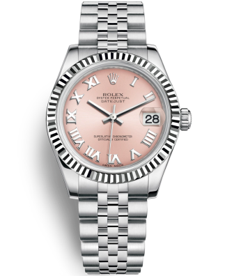Replica Rolex Datejust Automatic Watch 178274-0077 Pink Dial 31mm