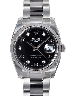 Swiss Rolex Oyster Perpetual 115234-CA-72190 Black Dial Men  Automatic Replica Watch