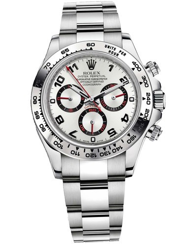 Rolex Daytona Swiss Replica Watch 116509-0037 White Dial 40mm (High End)
