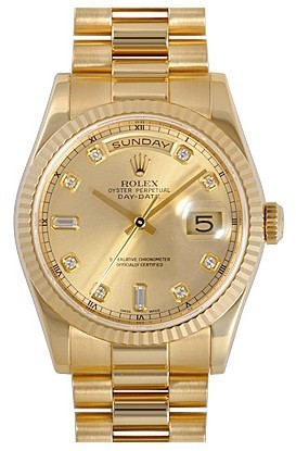 Rolex Day-Date 218238-83218 Champagne dial Men Automatic Replica Watch