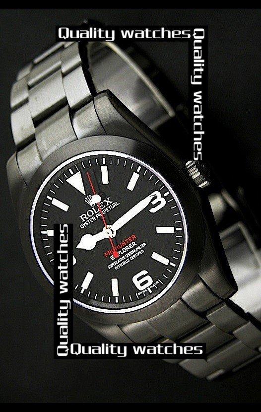 Swiss Rolex Pro-Hunter Explorer PVD case  Automatic Replica Watch