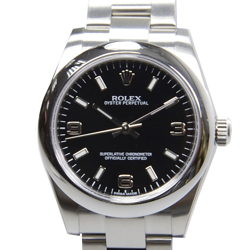 Swiss Rolex Oyster Perpetual 177200 Black dial Ladies  Automatic Replica Watch