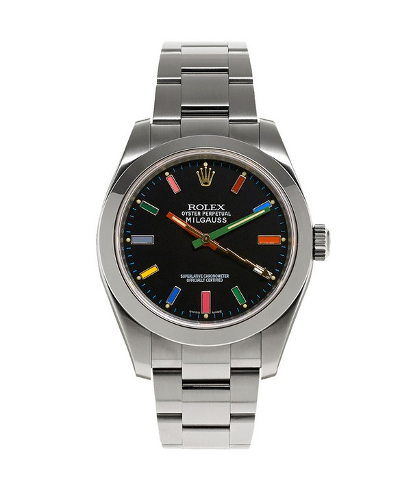 Swiss Rolex Oyster Perpetual Milgauss Happy Socks Automatic Replica Watch