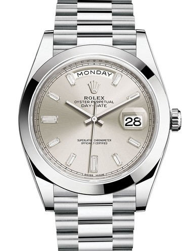 Rolex Day-Date II Swiss Replica Watch 228206-0012 Silver Dial 40mm (High End)