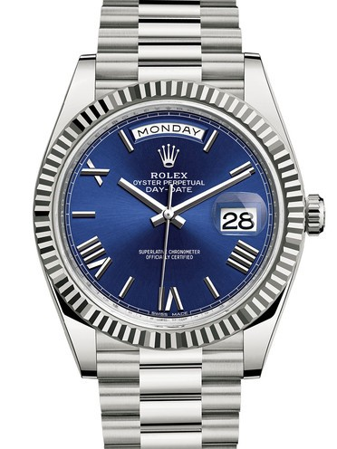 Rolex Day-Date II Swiss Replica Watch 228239-0007 Dark Blue Dial 40mm (High End)