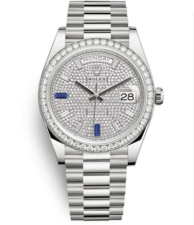 Rolex Day-Date II Swiss Replica Watch 228349RBR-0036 Full Diamonds Dial 40mm (High End)
