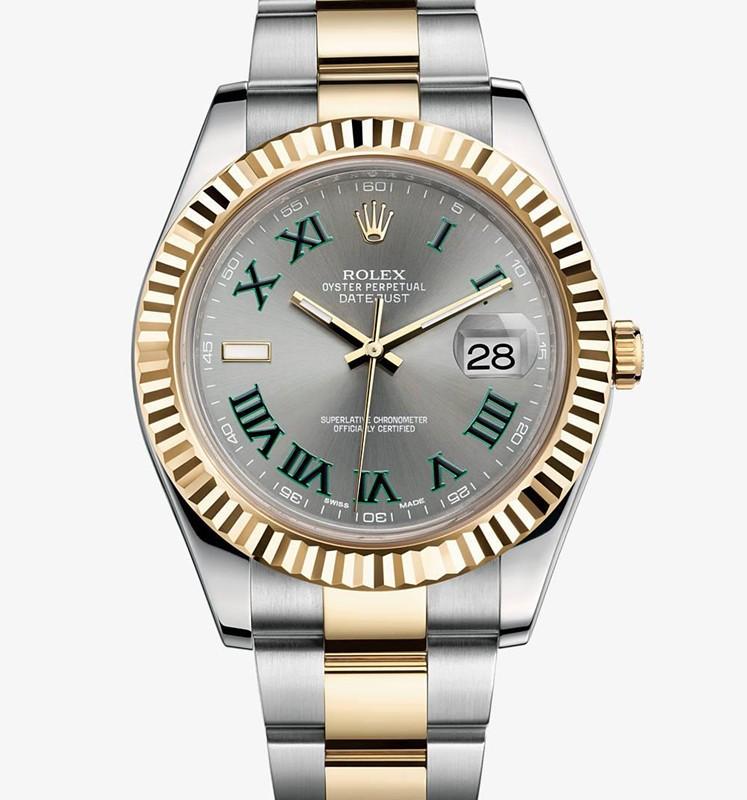 Swiss Rolex Datejust Mens 116333 Grey dial Roman numerals Automatic Replica Watch