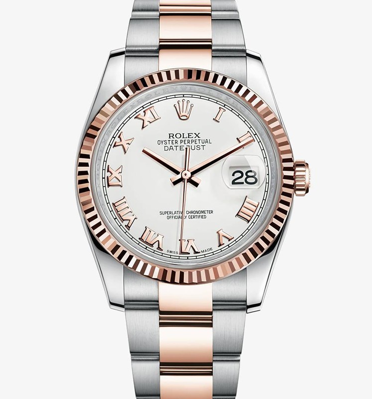 Swiss Rolex Datejust Mens 126231-0016 White dial Roman numerals Automatic Replica Watch