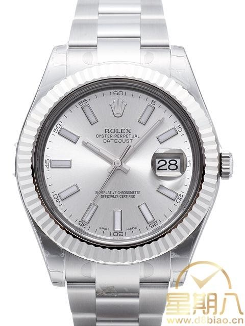 Swiss Rolex Datejust Mens 116334 White dial Bar-type time markers  Automatic Replica Watch
