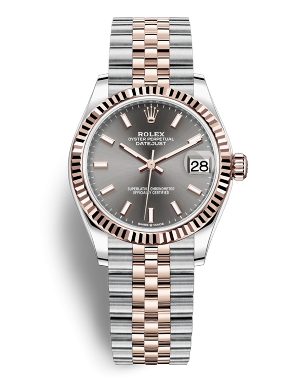 Replica Rolex Lady-Datejust 2019 Swiss Watches 278271-0018 Gray Dial 31mm(High End)