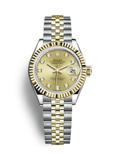 Replica Rolex Datejust Ladies Swiss Watches 279173-0011 Gold Dial 28mm(High End)