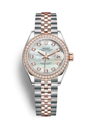 Replica Rolex Datejust Ladies Swiss Watches 279381RBR-0013 MOP Dial 28mm(High End)