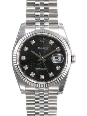 Swiss Rolex Oyster Perpetual 116234-J-63200 Black dial Men Automatic Replica Watch