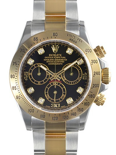 Swiss Rolex Oyster Perpetual 116523-NC.8DI-78593 Black dial Men Automatic Replica Watch