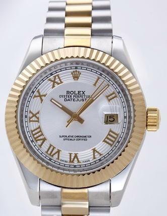 Rolex Datejust II Replica Watches Silver Dial RX4106